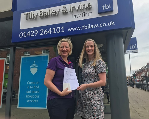 Tilly Bailey & Irvine Raise Over £3,000 For Hartlepool Hospice In Make A Will Month 2019