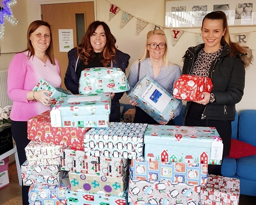 Tilly Bailey & Irvine Assist Teesside Charitys Shoebox Appeal