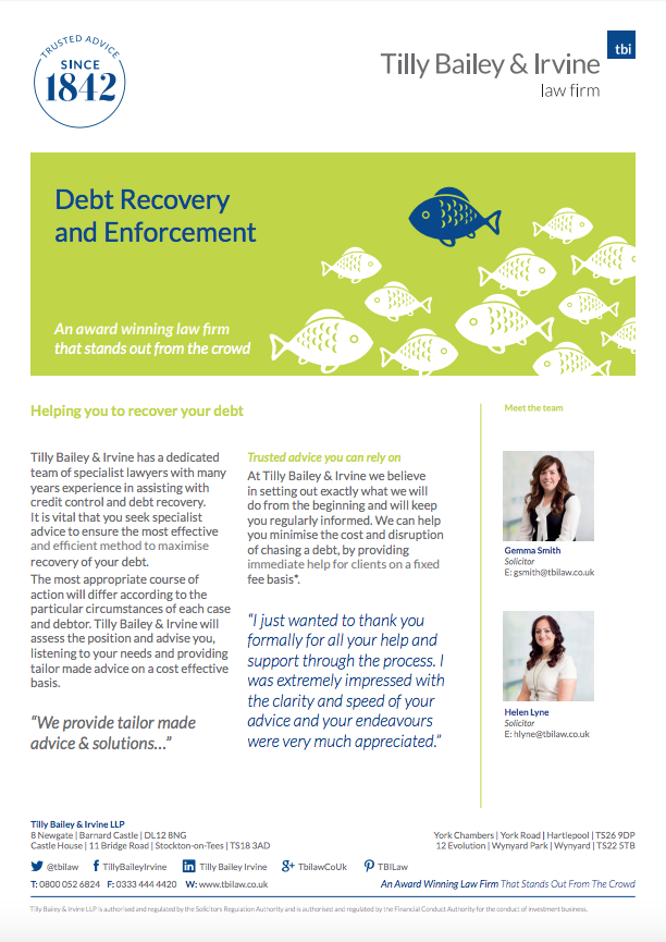 Debt Recovery and Enforcement