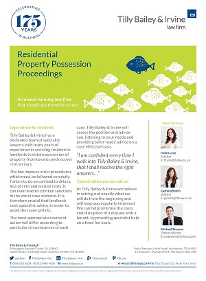 Residential Property Possession Proceedings