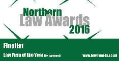 Northern Law Awards - Large Law Firm Finalists 2016