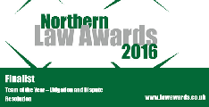 Northern Law Awards - Litigation Finalists 2016
