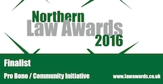 Northern Law Awards - Pro Bono Finalists 2016
