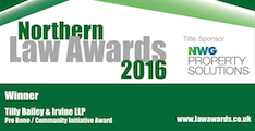 Northern Law Awards - Pro Bono Winner 2016